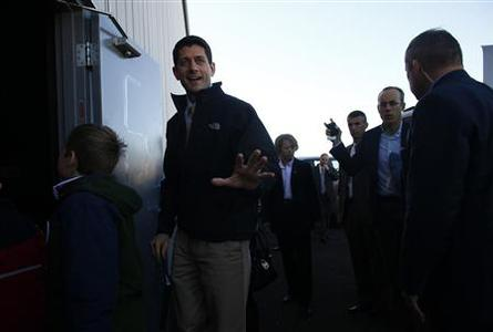 Republican vice presidential candidate Paul Ryan attends a campaign event in Reno, Nevada November 5, 2012. REUTERS/Eric Thayer