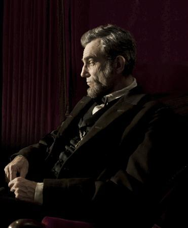 Actor Daniel Day-Lewis portrays United States president Abraham Lincoln in a scene from director Steven Spielberg's new film ''Lincoln'' in this undated publicity photograph. Day-Lewis had only a statue and a few famous speeches to go on when he first agreed to play President Abraham Lincoln on screen. Yet by the time production began on Spielberg's ''Lincoln,'' the British-Irish actor was so immersed in the character, he was even texting co-stars as America's Civil War president. REUTERS/David James/DreamWorks Pictures and Twentieth Century Fox/Handout