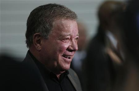 Actor William Shatner, who plays Captain James T. Kirk in the original version of Star Trek, arrives at the Destination Star Trek London event in London October 19, 2012. REUTERS/Suzanne Plunkett