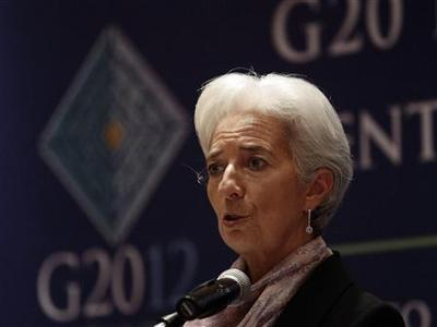 International Monetary Fund (IMF) Managing Director Christine Lagarde speaks during a news conference on the second day of the G20 at a hotel in Mexico City November 5, 2012. REUTERS/Henry Romero