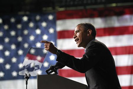 U.S. President Barack Obama speaks at an election campaign rally in Columbus, Ohio, November 5, 2012, on the eve of the U.S. presidential elections. REUTERS/Jason Reed