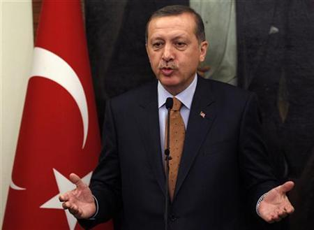 Turkey's Prime Minister Tayyip Erdogan speaks during a news conference in Ankara October 20, 2011. REUTERS/Umit Bektas