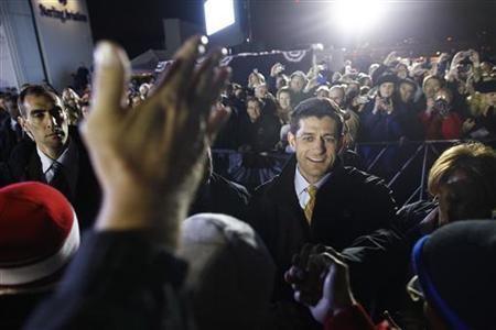 Republican vice presidential candidate Paul Ryan attends a campaign event in Milwaukee, Wisconsin, November 5, 2012. REUTERS/Eric Thayer