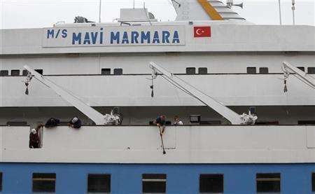 The cruise liner Mavi Marmara is under maintenance in a shipyard in Istanbul May 20, 2011. REUTERS/Osman Orsal