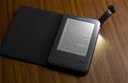 The latest version of the Amazon Kindle e-book reader is shown in this undated publicity photo released to Reuters July 28, 2010. REUTERS/Amazon.com/Handout/Files