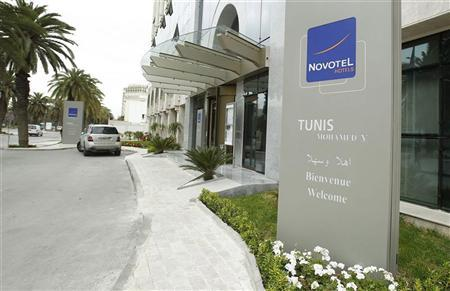 A view of the Novotel hotel, in Mohamed V Avenue, in Tunisia April 3, 2012. REUTERS/Zoubeir Souissi