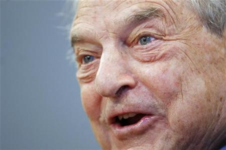 George Soros, chairman of the Soros Fund Management and Open Society, speaks during an interview with Reuters in New York April 6, 2009. REUTERS/Shannon Stapleton/Files