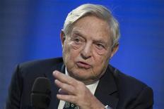 L'investitore miliardario americano George Soros. REUTERS/Thomas Peter