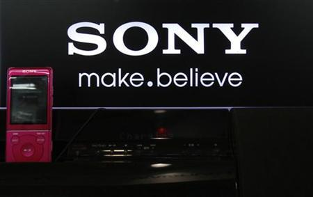 Sony Corp's logo is pictured on a Walkman speaker displayed at an electronics store in Tokyo October 24, 2012. REUTERS/Yuriko Nakao