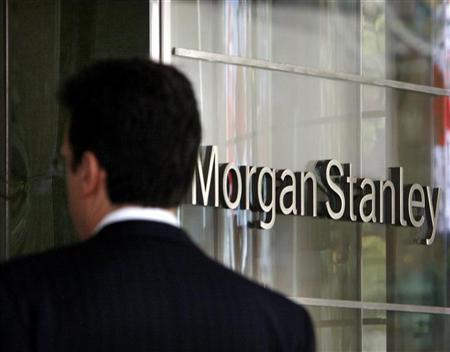 A man walks into the Morgan Stanley building in New York, April 29, 2009. REUTERS/Brendan McDermid/Files