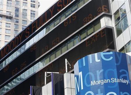The Morgan Stanley worldwide headquarters building is pictured in New York June 22, 2012. REUTERS/Brendan McDermid