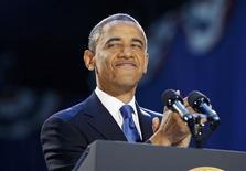 Barack Obama llegó a la Casa Blanca hace cuatro años como un agente de cambio. El primer presidente negro de la nación fue reelegido el martes como un defensor de un nuevo status quo. Con un segundo mandato, Obama también obtiene una segunda oportunidad. En la imagen, el presidente Obama sonríe tras su reelección en Chicago el 7 de noviembre de 2012.