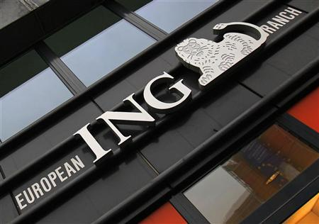 The logo of ING bank is seen outside an office in central Brussels November 7, 2012. REUTERS/Yves Herman