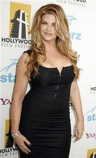 Actress Kirstie Alley, who was a presenter at the Hollywood Awards gala held by the Hollywood Film Festival, poses backstage in Beverly Hills, California October 22, 2007. REUTERS/Fred Prouser