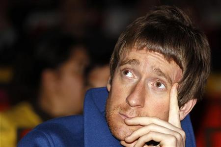 Britain's cyclist Bradley Wiggins attends the presentation of the itinerary of the 2013 Tour de France cycling race in Paris October 24, 2012. REUTERS/Benoit Tessier