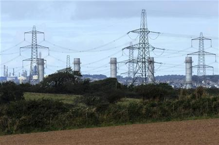 Energy company RWE npower's new gas-fired Pembroke Power Station, the largest of its type in Europe, is seen during its completion ceremony in Pembroke, Wales September 19, 2012. REUTERS/Rebecca Naden