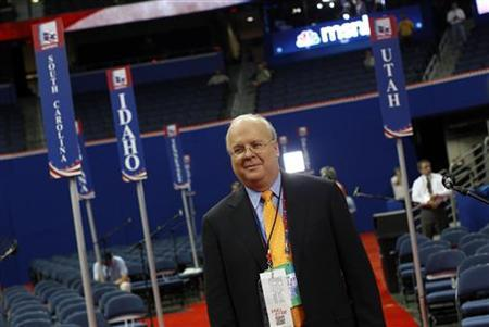 Republican political strategist Karl Rove walks the floor of the Republican National Convention before the start of first session of the convention in Tampa, Florida August 27, 2012. REUTERS/Shannon Stapleton