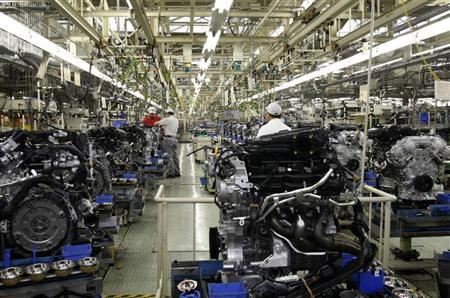 Nissan Motor's Iwaki factory is seen in Iwaki, about 50km (31 miles) from the crippled Fukushima Daiichi nuclear power plant, Fukushima prefecture May 17, 2011. REUTERS/Chang-Ran Kim