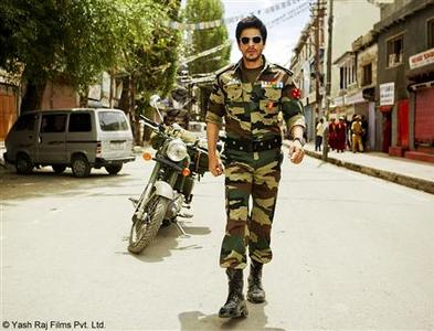 Shah Rukh Khan is seen in this handout still from the film ''Jab Tak Hai Jaan''