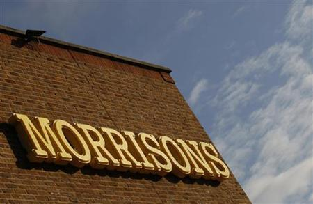 A sign is seen outside a Morrisons supermarket, in south London September 9, 2010. REUTERS/Andrew Winning