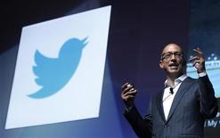 Twitter's CEO Dick Costolo gestures during a conference at the Cannes Lions in Cannes June 20, 2012. Cannes Lions is the International Festival of creativity. REUTERS/Eric Gaillard