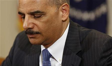 U.S. Attorney General Eric Holder during a meeting at the White House in Washington, July 26, 2012. REUTERS/Larry Downing
