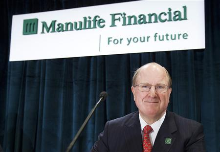 Manulife Financial CEO Don Guloien arrives at their annual general meeting of shareholders in Toronto, in this May 3, 2012, file photo. REUTERS/Mark Blinch/Files