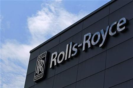 The logo and sign of Rolls-Royce is seen at its Seletar campus in Singapore September 12, 2012. REUTERS/Tim Chong