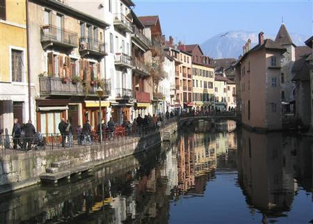 The lakeside town of Annecy, seen in this undated file photo. REUTERS/Stringer