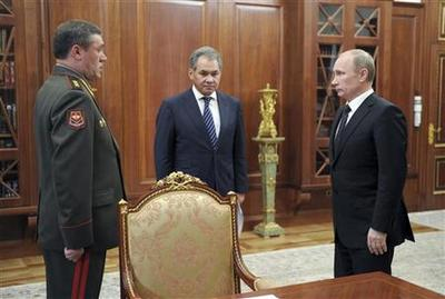 Russia's Putin fires top general after graft scandal