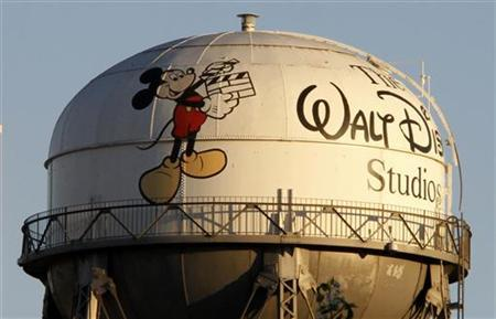 A view of the water tower at The Walt Disney Co., featuring the character Mickey Mouse, is seen at the company's headquarters in Burbank, California, February 7, 2011. REUTERS/Fred Prouser