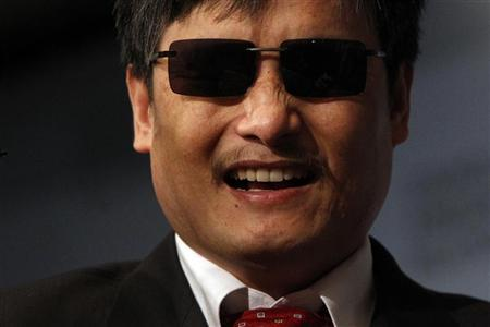 Activist and advocate Chen Guangcheng smiles at the Council on Foreign Relations in New York May 31, 2012. REUTERS/Eric Thayer