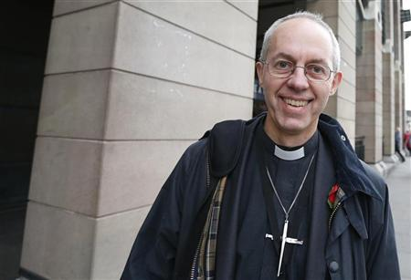 Justin Welby, the Bishop of Durham, walks through Westminster in London November 8, 2012. REUTERS/Suzanne Plunkett