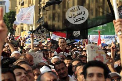 Islamists protest for sharia as Egypt debates constitu...