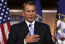 O presidente da Câmara dos Deputados dos EUA, John Boehner, responde uma pergunta durante coletiva de imprensa no Congresso em Washington. 9/11/2012 REUTERS/Larry Downing