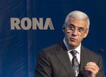 Robert Dutton, president and chief executive officer of Rona Inc. speaks during their annual general meeting in Boucherville, Quebec, in this file photo taken May 9, 2012. REUTERS/Christinne Muschi