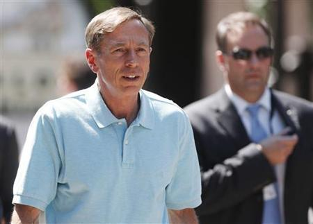 Director of the Central Intelligence Agency General David Petraeus attends the Allen & Co Media Conference in Sun Valley, Idaho July 12, 2012. REUTERS/Jim Urquhart/Files