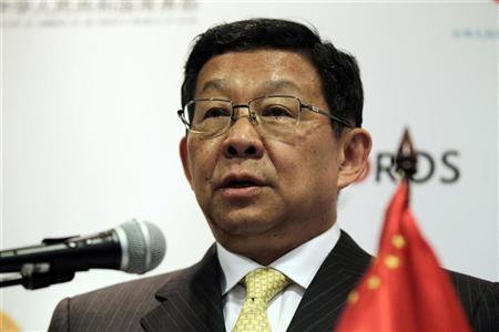 China's Minister of Commerce Chen Deming speaks during a news conference after a bilateral meeting with Colombia's Trade Minister Sergio Diaz Granado in Bogota October 2, 2012. REUTERS/John Vizcaino