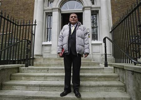 Steven Messham arrives at the Wales Office in London November 6, 2012. REUTERS/Luke MacGregor