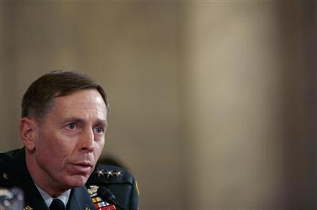 Lieutenant General David Petraeus testifies to the Senate Armed Forces Committee at a hearing on Capitol Hill in Washington, January, 23, 2007. REUTERS/Joshua Roberts/Files