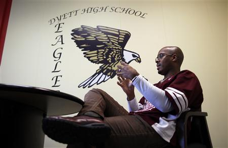 Walter H. Dyett High School principal Charles Campbell is seen in his office in Chicago, Illinois, in this photo taken on October 5, 2012. REUTERS/Jim Young