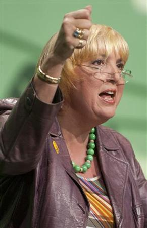 Germany's Green Party co-leader Claudia Roth speaks during Germany's Greens Party convention in Kiel November 27, 2011. REUTERS/Morris Mac Matzen (GERMANY - Tags: POLITICS)