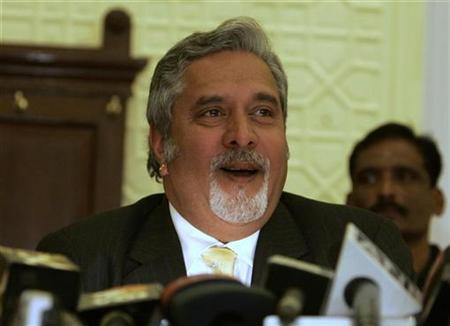 Vijay Mallya, chairman and chief executive of Kingfisher Airlines, speaks during a news conference in Srinagar January 12, 2009. REUTERS/Danish Ismail/Files