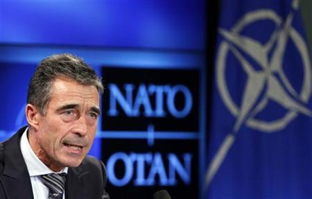 NATO Secretary General Anders Fogh Rasmussen addresses a news conference in Brussels November 5, 2012. REUTERS/Francois Lenoir