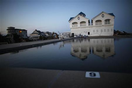 Buildings damaged by Hurricane Sandy are seen in Monmouth Beach, New Jersey November 11, 2012. REUTERS/Eric Thayer