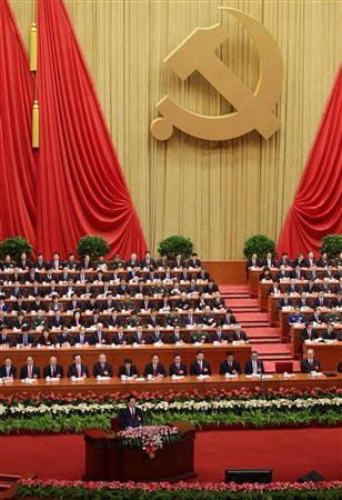 China's President Hu Jintao delivers a keynote report during the opening ceremony of the 18th National Congress of the Communist Party of China (CPC) at the Great Hall of the People, in Beijing November 8, 2012. REUTERS/Jason Lee
