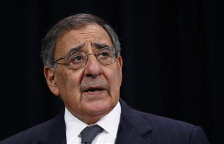 U.S. Secretary of Defense Leon Panetta addresses a news conference during a NATO defence ministers meeting at the Alliance headquarters in Brussels October 10, 2012. REUTERS/Francois Lenoir
