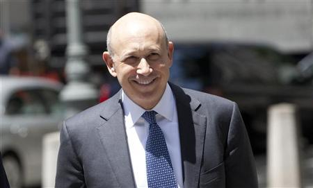 Goldman Sachs Chairman and Chief Executive Lloyd Blankfein enters the Manhattan Federal Court in New York June 7, 2012. REUTERS/ Andrew Kelly