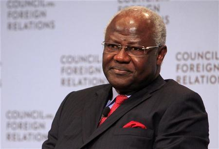 Ernest Bai Koroma, President of Sierra Leone, attends a discussion at the Council on Foreign Relations in New York September 20, 2011. REUTERS/Eric Thayer