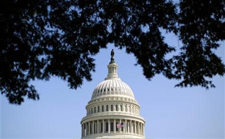 The dome of the U.S. Capitol is seen in Washington September 25, 2012. REUTERS/Kevin Lamarque/Files